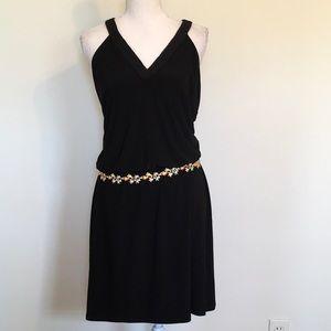 White House|Black Market Halter V-neck Knit Mini